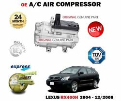 For Lexus Rx400h Hybrid 3.3 2004-12/2008 New Ac Air Conditioning Compressor