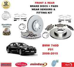 For Bmw 740d F01 Front And Rear Brake Pads Discs Fitting Kit Wear Indicator