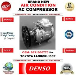Denso New Air Conditioning Ac Compressor Oem 8831060770 For Toyota Landcruiser