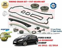 For Ford S Max 2.0 Ecoboost 203bhp 2011- Timing Cam Chain Kit And Vvt Gears Set