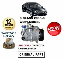For Mercedes S350 S450 S500 S550 S63 2005 Ac Air Con Conditioning Compressor
