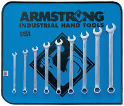 Long Combo Wrench Set 7-15mm 9pc Mm 12pt Satin Armstrong Usa Tools New