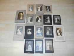 Antique Lot 16 Wedding Real Photographs Bride Groom Old Photos Pictures Vintage