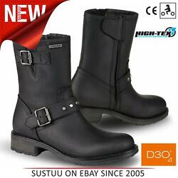 Falco Dany 2 Motorcycle/ Motorbike Womenand039s Leather Boots│ce App.│black│all Sizes
