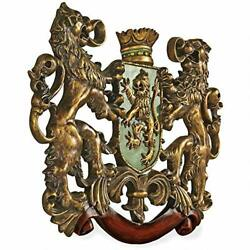 Wall Sculpture Heraldic Royal Lions Coat of Arms Medieval Decor 30