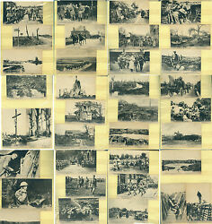 1917-1918 World War I - Large Group Of 60 Different Black And White Postcards