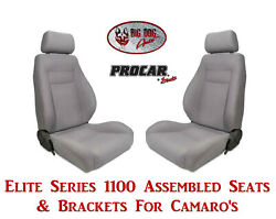 Scat Elite Series 80-1100-62 Seat And Bracket Set For 1967-2002 Chevy Camaros