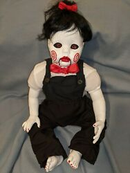 Baby Girl Billy The Puppet Doll With Follow Me Eyes Inspired By The Movie Saw