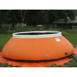 New High-sided Self Supporting Tank 22 Oz 128 Dia X 44h 1600 Gal Cap Orange