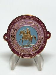 The Confederate States Of America Deo Vindice Bicycle Badge Medal Enamel 1.5