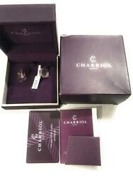 Authentic Charriol Cable Steel Earrings Jewelry Forever Plum Pink Pvd