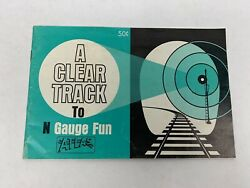 Vintage 1968 N Scale Atlas Booklet - A Clear Track To N Gauge Fun Collectible
