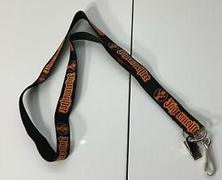 Jagermeister Neck Strap Lanyard Id Keychain Holder 32 Ornage And Black