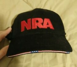 NRA Stand And Fight Cap Hat Black Adjustable National Rifle Association