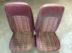 1978 1979 Ford Pinto Front Right And Left Hand High Back Seats
