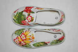 Girls Casual Shoes TROPICAL FLORAL PRINT CANVAS LOAFERS Boat Deck 12 13 1 2 3