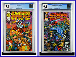 Cyberforce Set Of 2 1 2 Cgc Graded 9.8 Image 1993 White Pages Comic Books