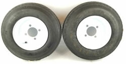 Eco-trail 4.80-8 Load Range C Trailer / Camper Tire With 4 Hole Wheel - Pair
