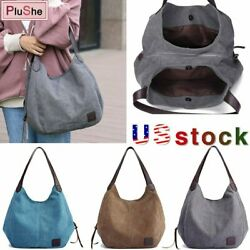 KVKY Women's Brand Design Handbag Canvas Shoulder Bags Large Tote Hobo Bag $15.99