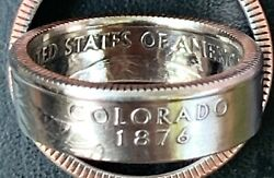1999-2009 Us State Qtr Coin Ring,size 5-14,you Pick State/size.handmade.free Sandh