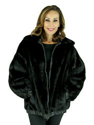 Woman's Ranch Mink Fur Jacket Reversing to Leather