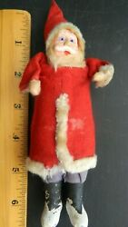 Charming Antique Belsnickle German Very Old Vintage Unsigned Santa 6-7 Tall