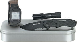Humvee Recon Mission Ready 3 Piece Knife And Flashlight Gift Set Rcnrm1