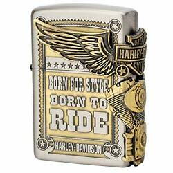 Zippo Harleydavidson Limited Three-sided Continuous Processing Old Beauty Finish