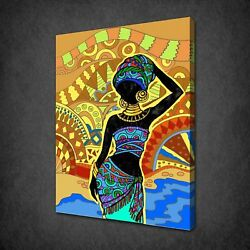 African Lady Canvas Print Picture Wall Art Free Uk Delivery