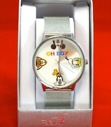 Disney Parks Collection Watch✿ Oh Boy Mickey Mouse Fab 4 Pluto Donald Duck Goofy