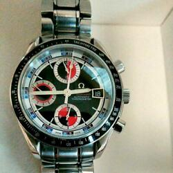 Authentic Omega Watch Speedmaster Automatic Date 3210-52 40mm Chrono Mens F/s