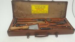 Stunning Spear And Jackson And039odd-joband039 Household Repair Kit Leather Case 18534