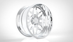 4 20x10 Jtx Forged Polished Ricochet Wheels For Chevy Gmc Ford Dodge Toyota
