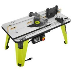 Ryobi 32 Inch Router Table 5-throat Plates Built-in Vacuum Port Adjustable Fence