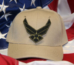 Us Air Force Wing Ii Hat Patch Cap Logo Seal Usaf Vet Usa Pin Up Tan Special Ops