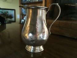 Vintage Hotel Sterling Silver And Co Cream Pitcher Summit Club Tulsa