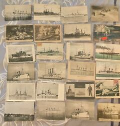 Original, Vintage Card .the Fleet Of Russia. 24 Pcs. Lot. Collection