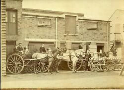 Geo. Nixs Model Dairy Winchmore Hill London Uk Vintage Photo Horse Carriage