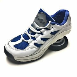 Z-Coil Women sz 5 Athletic Walking Shoes White Blue Leather Mesh Sneakers