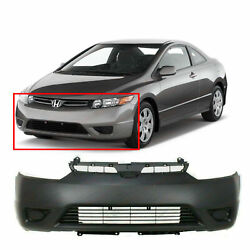 Primed Front Bumper Cover Fascia For 2006-2008 Honda Civic Coupe Dx-g Ex Lx Si