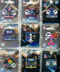 Bills 2012 And 2013 Game Day Pin Choice 9 Pins Jets Rams Dolphins Falcons Ravens +