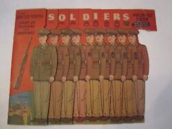 1942 United States Stand-up Solders And Punch-outs Game Book - Rare - Lot B