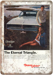 Dodge Fever 1969 Charger Car Ad 10 X 7 Reproduction Metal Sign A215