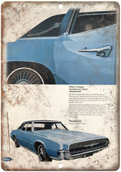 Ford Thunderbird Lincoln Continental Retro Ad 10x7 Reproduction Metal Sign A29
