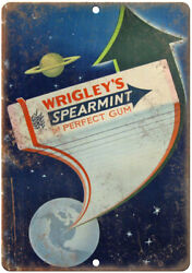 Wrigley's Spearmint Gum Vintage Ad 10 X 7 Reproduction Metal Sign N71