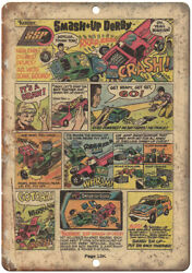 Kenner Toys Smash Up Derby Comic Book Ad 10 X 7 Reproduction Metal Sign J106