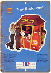 Burger King Wopper Kettering Toys Vintage Ad 10x7 Reproduction Metal Sign N232