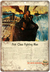 Veedol First Fighting Man Motor Oil Ad 10quot; X 7quot; Reproduction Metal Sign A886