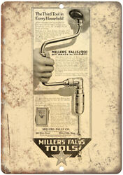 Millers Falls Tools Vintage Ad 10 X 7 Reproduction Metal Sign Z166