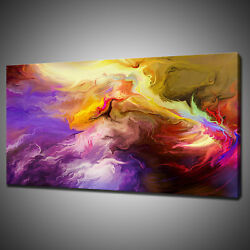 Abstract Colours Canvas Picture Print Wall Hanging Art Home Decor Free Pandp